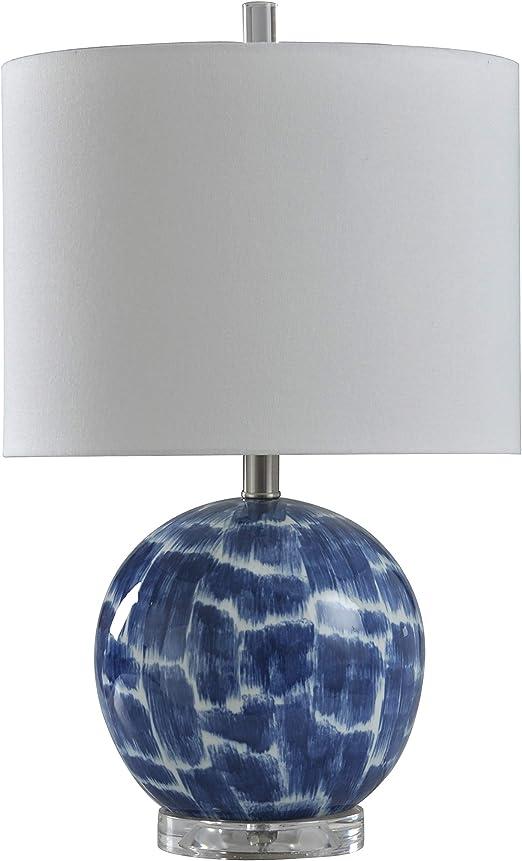 31 H Cream Decorators Lighting 15484 Ribbed Ceramic Gourd Table Lamp