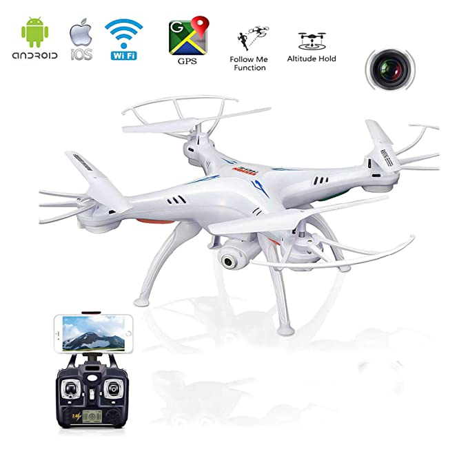 Magicwand Wi-Fi FPV R/C 2.4Ghz 6-Axis Vision Quadcopter Drone with 2 MP HD Camera Remote Controlled Drones at amazon