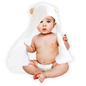 81476349a9 Baby Towel: Hooded, 100% Organic Natural Antibacterial Bamboo Cotton, Ultra  Soft,