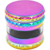CigaMaTe Herb Grinder Spice Grinder With Pollen Catcher Zinc Alloy Grinder for Herbs (rainbow)