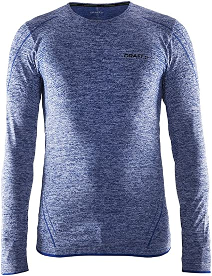 Craft Mens Base Layer Shirts Fuseknit Comfort Roundneck Long Sleeve Wicking Top