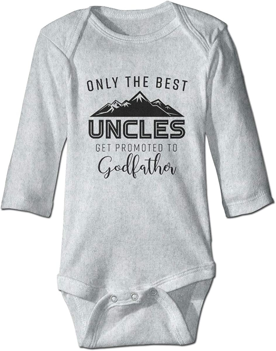 WUHAN1 Only The Best Uncles Get Promoted to Godfather Long Sleeve Bodysuit Gray