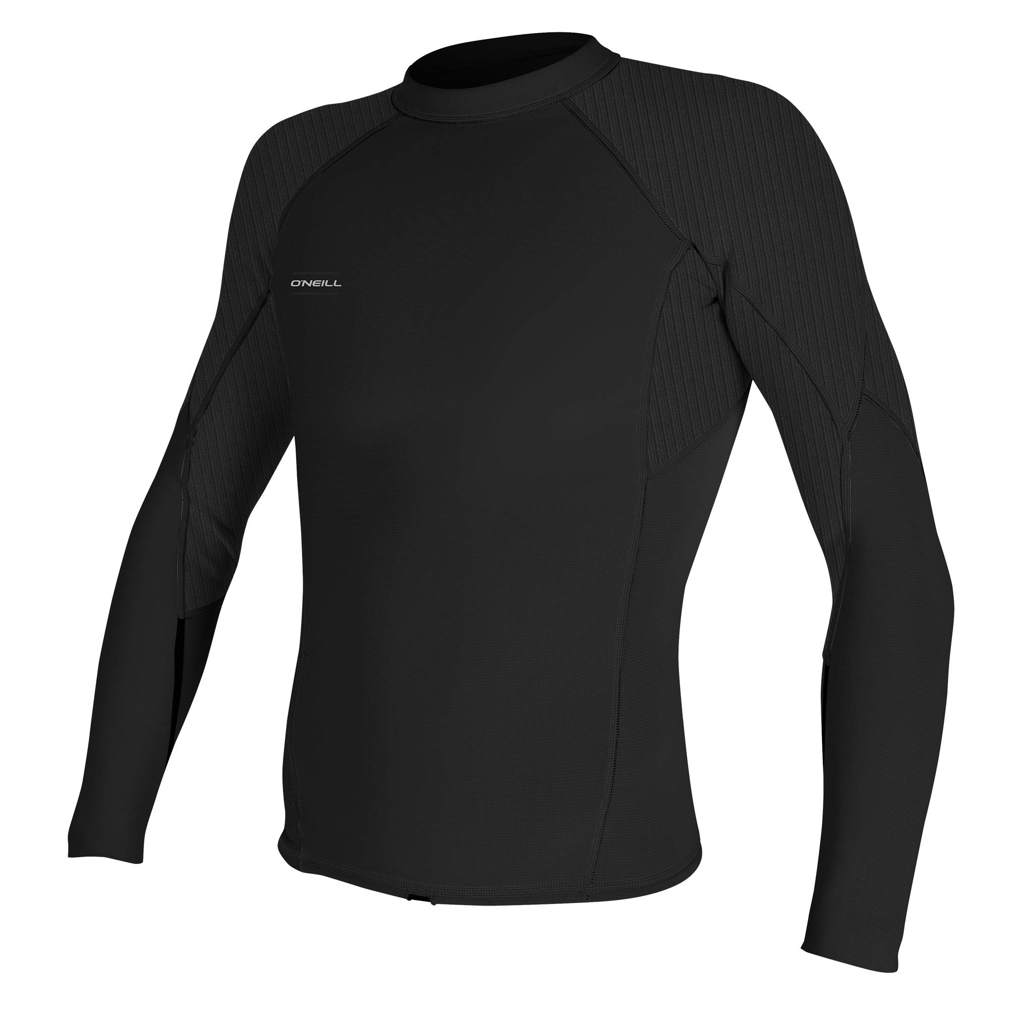 O'Neill Men's Hyperfreak 1.5mm Long Sleeve Top, Black/Black, Large Tall by O'Neill Wetsuits