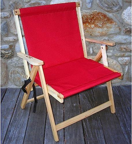 Highlands Deck Beach Chair Finish  Red
