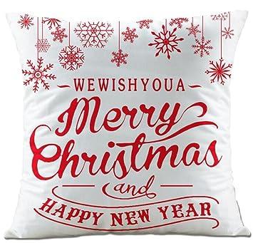 Lucky Girls almohada 45 x 45 cm Navidad Carta ciervo Copo de ...
