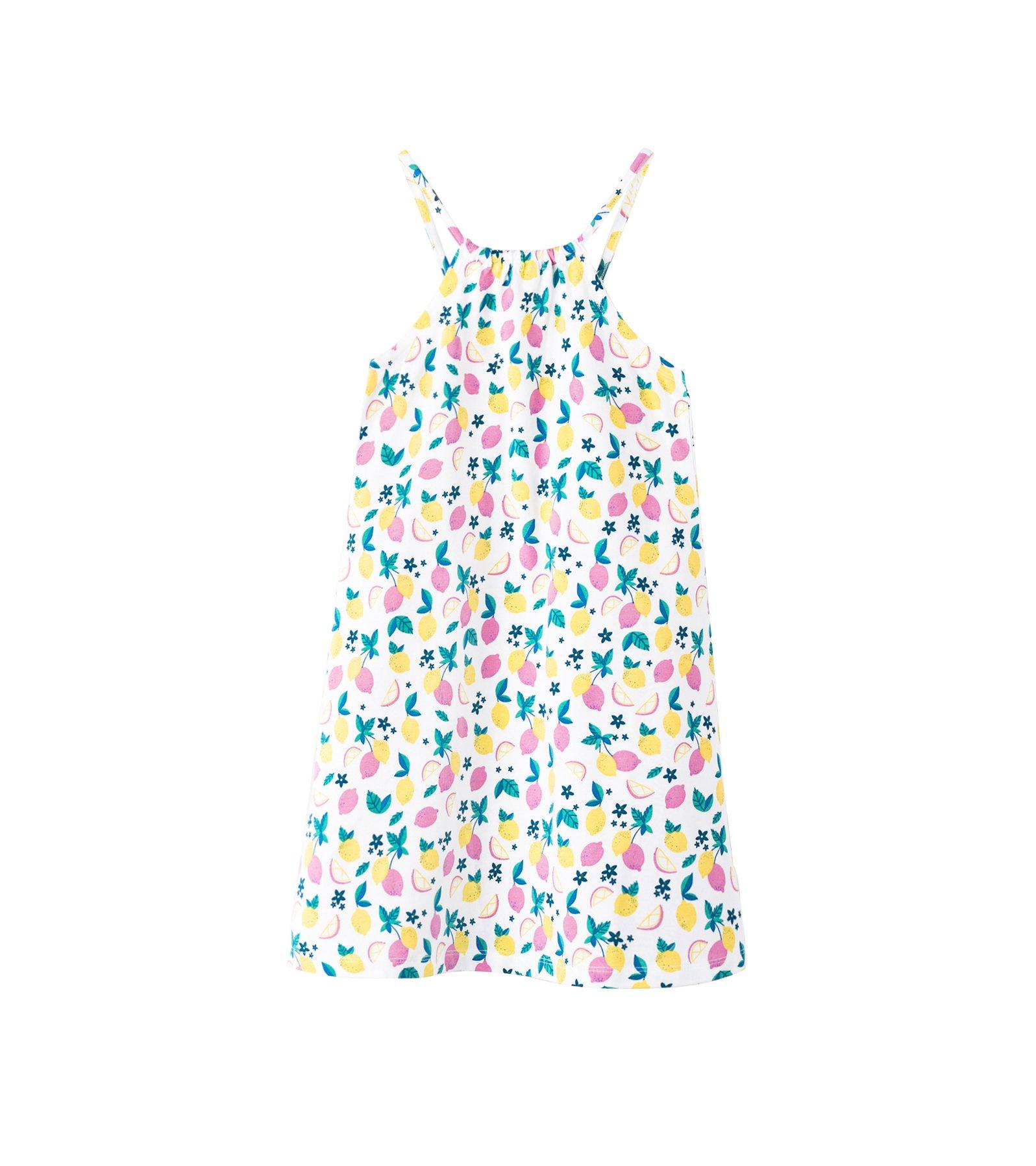 Hatley Little Girls' Strappy Dress, Pink Lemonade, 4 Years