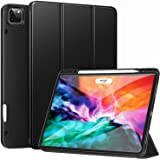 Ztotop Case for New iPad Pro 12.9 Inch 4th & 3rd Generation 2020/2018 with Pencil Holder, Full Body Protective Rugged Shockpr