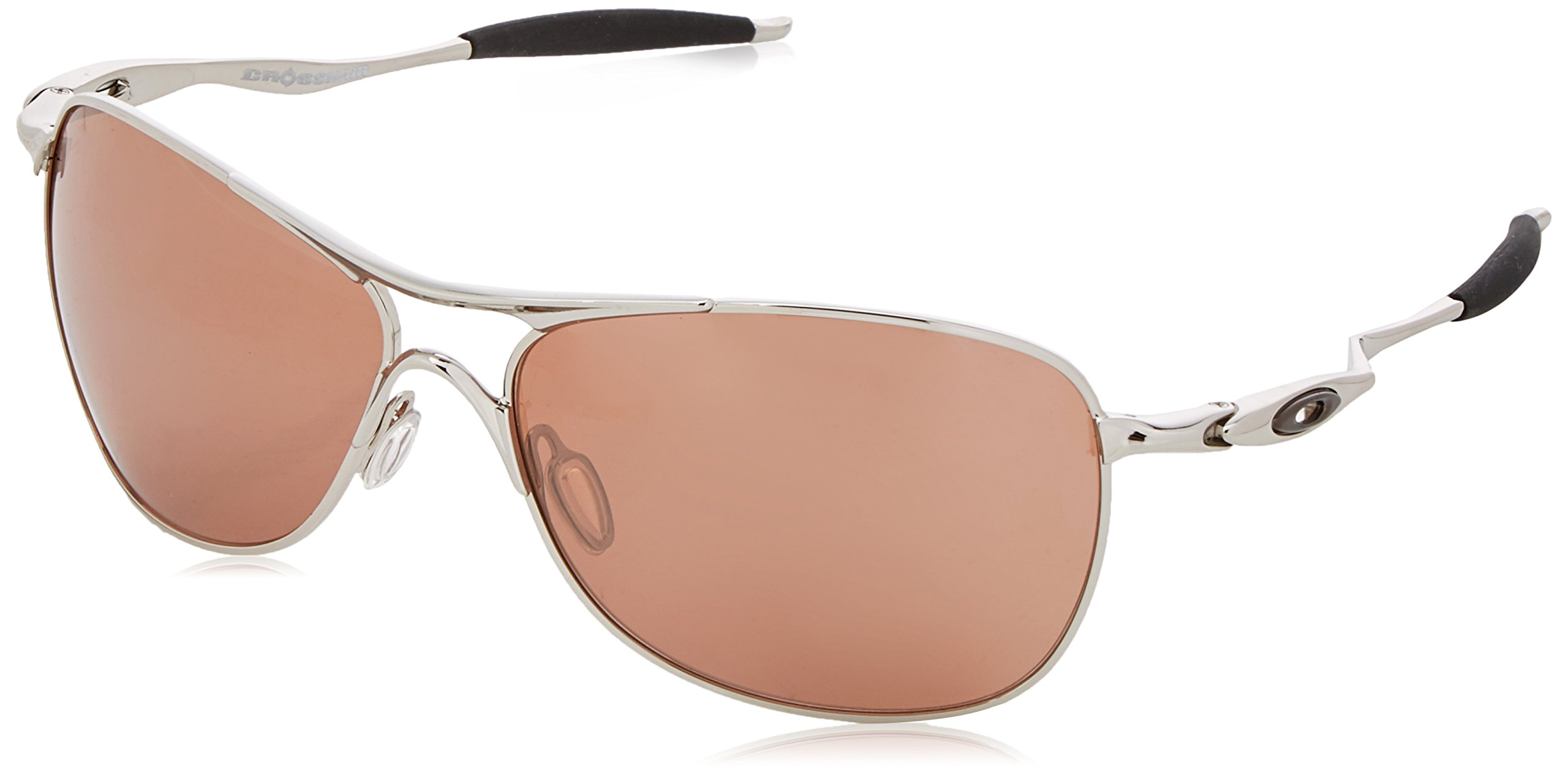 Oakley Men's OO4060 Crosshair Aviator Metal Sunglasses, Chrome/Vr28 Black Iridium, 61 mm