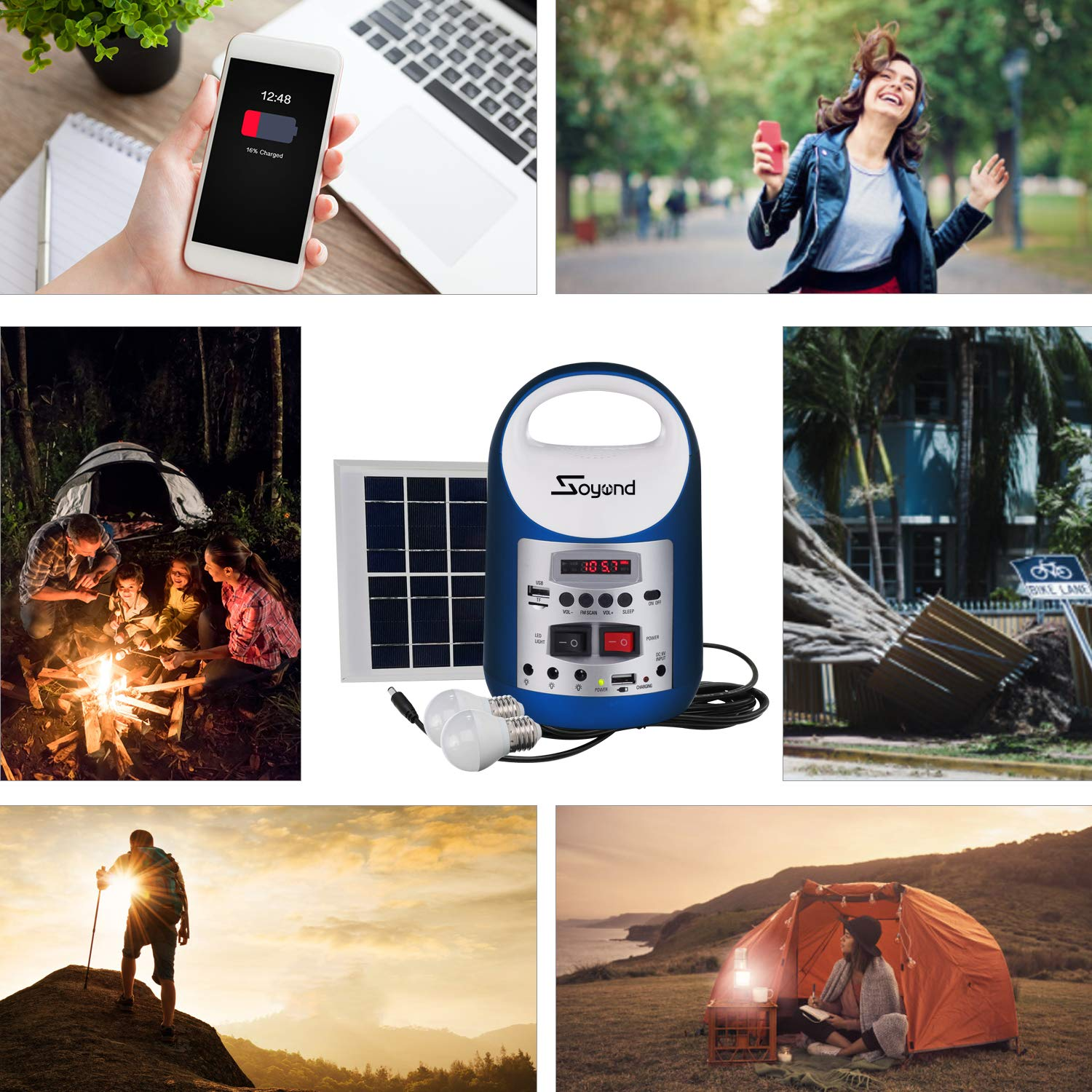 soyond Portable Solar Generator with Solar Panel Solar Powered Generator Inverter Small Basic Portable Electric Generator Kit by soyond (Image #4)