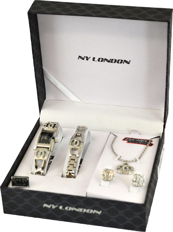 Ladies watch gift birthday necklace bracelet earrings set pendant ladies watch gift birthday necklace bracelet earrings set pendant womens girls black amazon jewellery negle Image collections