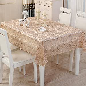 Amazon Com Arzoe Vintage Lace Tablecloth Elegant Embroidered Floral Table Cover For Party Wedding Kitchen Dining
