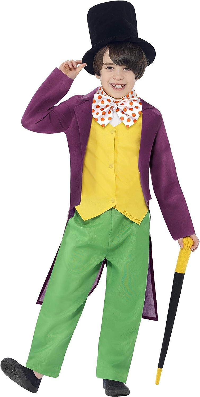Smiffys Disfraz de Roald Dahl Willy Wonka con licencia oficial ...