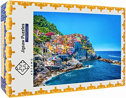 1000 Pieces DIY Jigsaw Italian Cinque Terre Adults Kids Puzzle Educational Toys