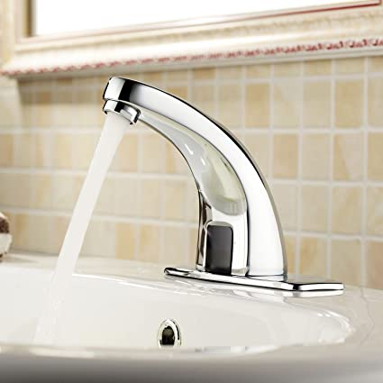 NEW Automatic Touchless Electronic Sensor Faucet Hands Free DC6V Bathroom  Faucet, Easy To Install