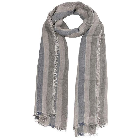 Chapeaushop Echarpe pour Homme Palesco Stripes echarpe d ete foulard  (taille unique - gris)  Amazon.fr  Vêtements et accessoires d250d685386
