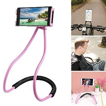 Perezoso Soporte del Teléfono del Colgante en el Cuello, Universal del Móvil las Funciones Múltiples (rosa): Amazon.es: Electrónica