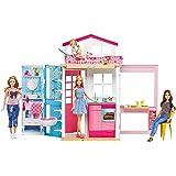 Barbie Casa Componibile con Bambola, 13.5 x 53.5 x 32 cm, DVV48