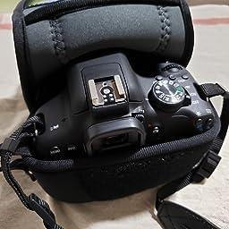 Amazon Co Jp Hakuba 一眼カメラケース プラスシェル スリムフィット02 カメラジャケット M 140 ブラック Dcs Sf02m140bk カメラ