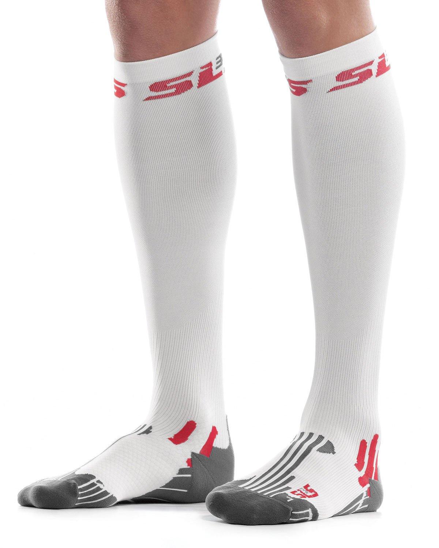 SLS3 FXC Compression Socks, White S/M