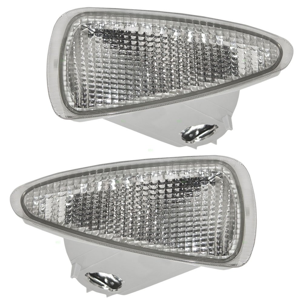 Driver and Passenger Park Signal Front Marker Lights Lamps Clear Lenses Replacement for Chevrolet 16517431 16517432 AUTOANDART.COM