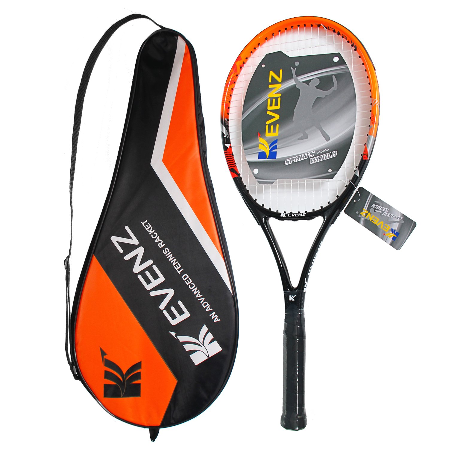 KEVENZ Green Advanced Training Tennis Balls,Practice Ball,Tennis Racket (Orange Racket) by KEVENZ (Image #3)