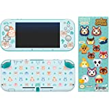 """Controller Gear Authentic and Officially Licensed 2-Pack Animal Crossing: New Horizons - """"Outdoor Pattern"""" Nintendo Switch Lite Skin & """"It Takes A Village"""" Tech Decal - Nintendo Switch"""