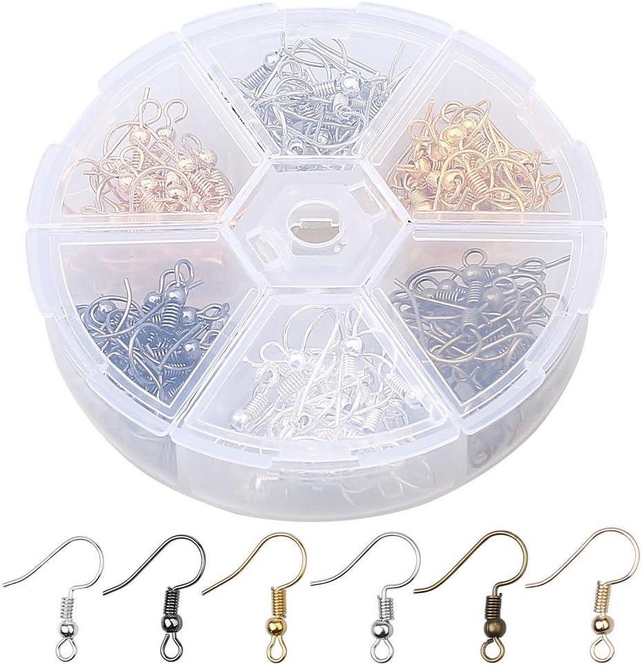 LOT 120 CROCHETS BOUCLES D/'OREILLES ARGENTÉ GRIS SANS NICKEL perles créations