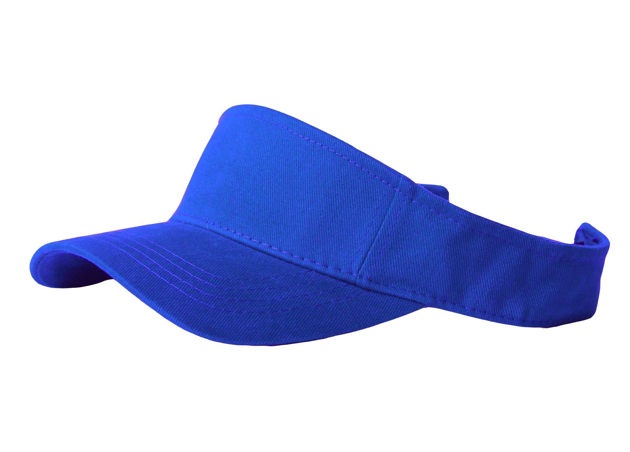 12 Color Visor Caps Wholesale- Royal Blue