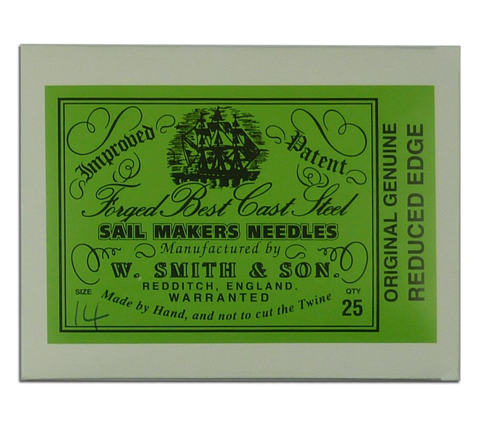 Wm. Smith & Son 25-pk of #14 Sailmakers' Needles by Wm. Smith & Son