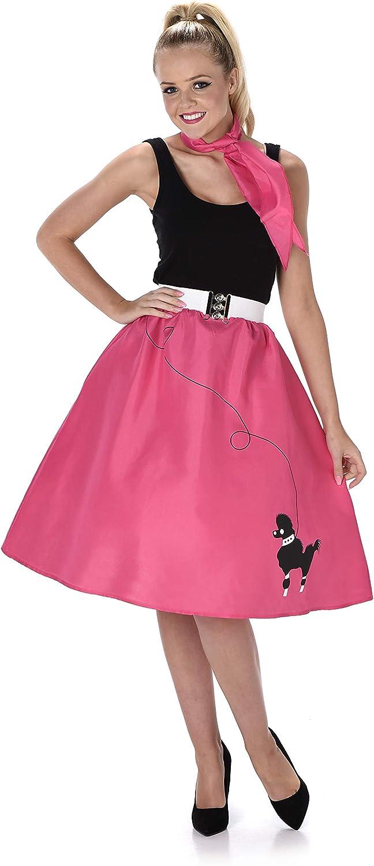 Generique - Disfraz Rosa años 50 Mujer M: Amazon.es: Juguetes y juegos