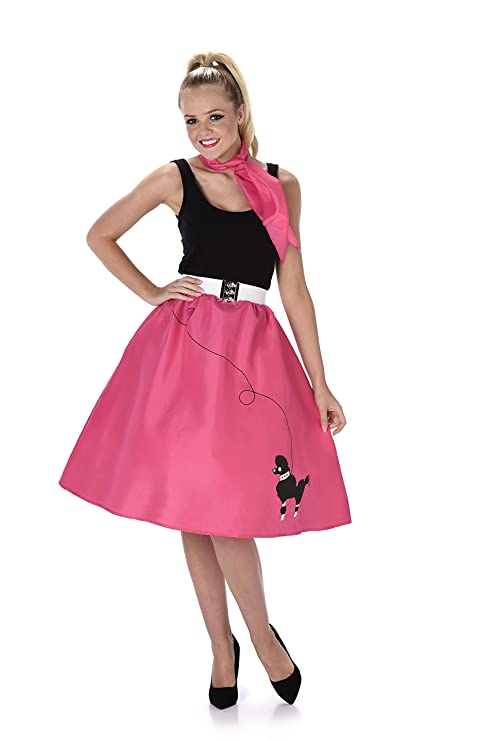 837dc62869eb Poodle Skirt Ladies Fancy Dress 50s 60s Rock and Roll Womens Adults Costume  New (Small UK 8-10): Amazon.co.uk: Toys & Games