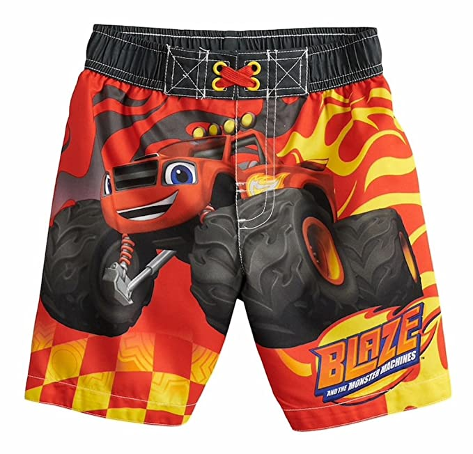 eaabfa9ded0bb Amazon.com: Blaze and the Monster Machines Little Boys Toddler Character  Print Swim Short, Red 2T: Clothing