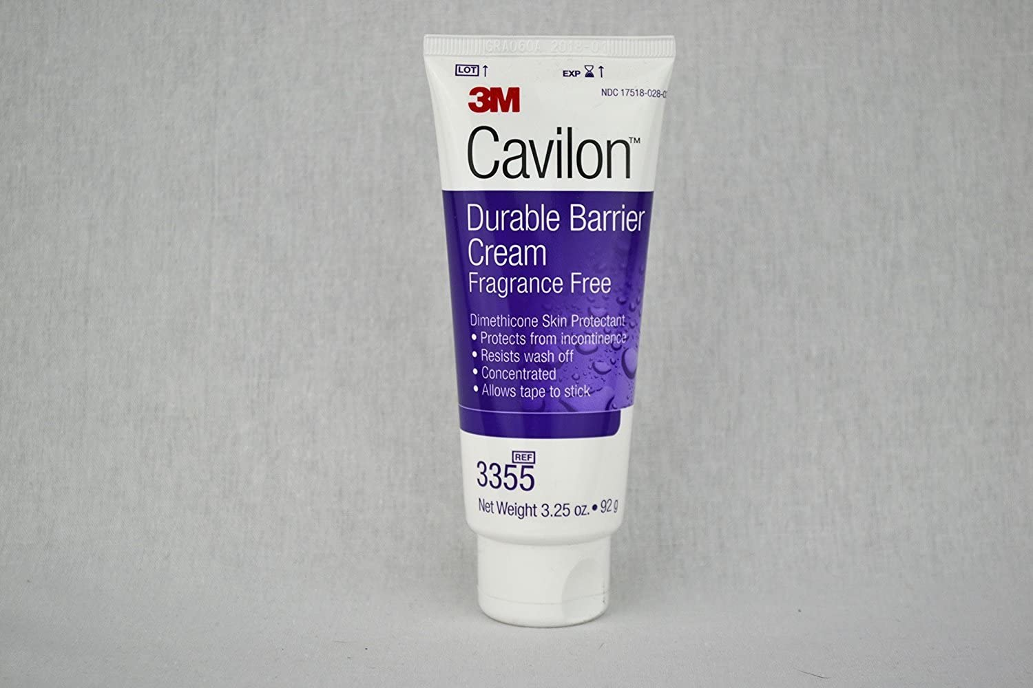 3M Cavilon Durable Barrier Cream - Fragrance Free - 3.25 ounces (92g) Tube - Pack of 3