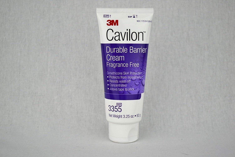 3M Cavilon Durable Barrier Cream - Fragrance Free - 3.25 ounces (92g) Tube - Pack of 3