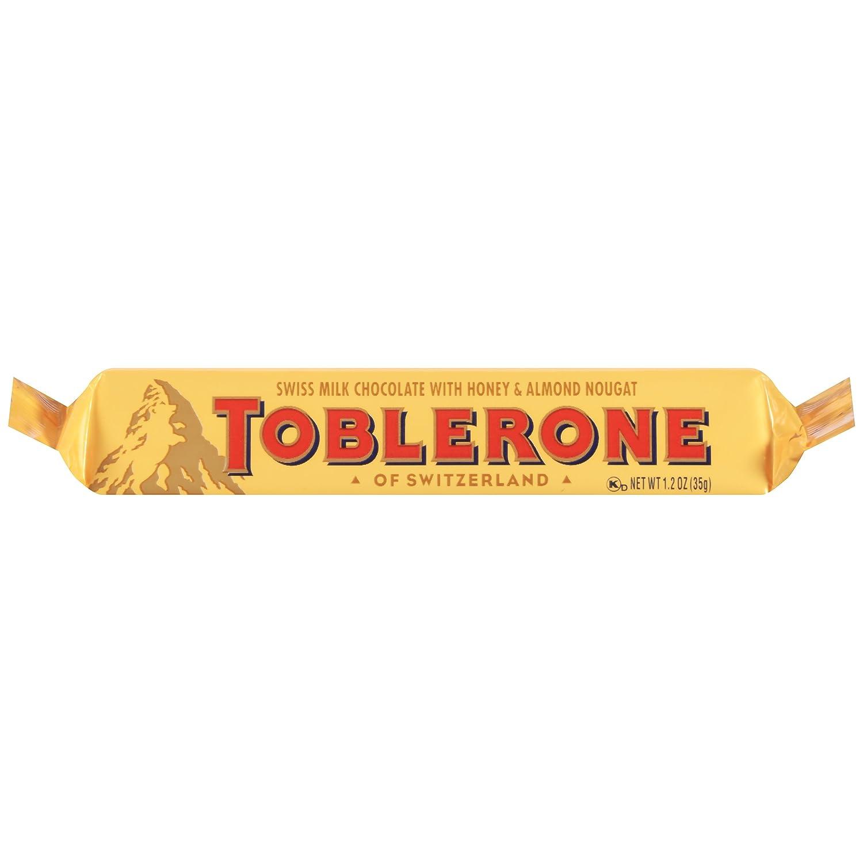Amazon.com : Toblerone Milk Chocolate, 1.23 Ounce (Pack of 24 ...