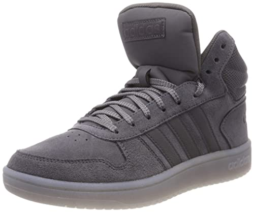 aa1c6ca17253 adidas Hoops 2.0 Mid, Scarpe da Basket Uomo, Grigio Grefiv/Grethr, 40