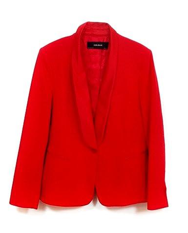 Zara - Chaqueta - para mujer rojo L : Amazon.es: Ropa y accesorios