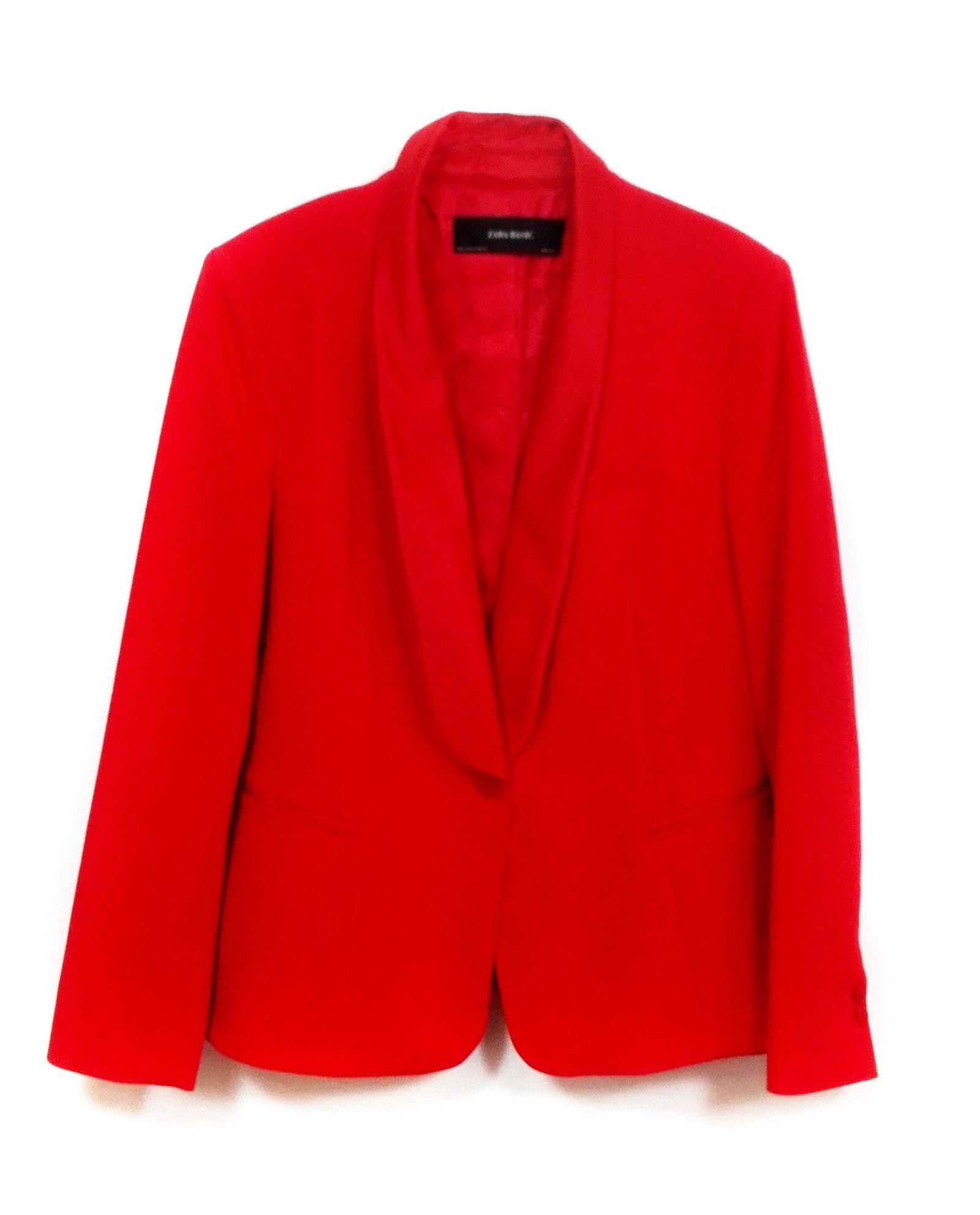 Zara Women Tuxedo Style Blazer 2173/783 (Small)