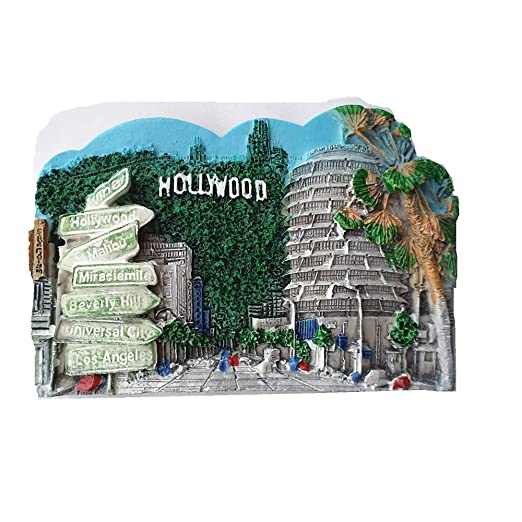 MUYU Magnet Imán para Nevera en 3D de Hollywood Los Ángeles ...