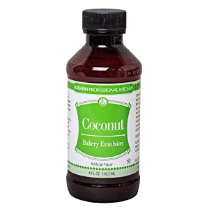 LorAnn Coconut Bakery Emulsion, 4 ounce bottle