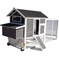 Chicken Coop with Run on Wheel Nesting Box Cage