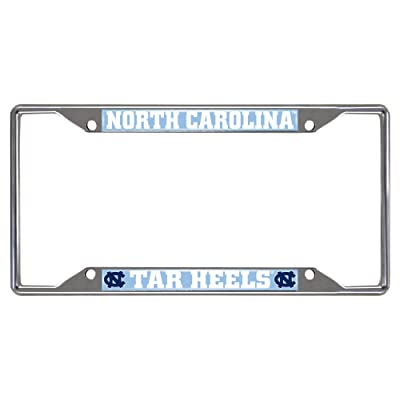 FANMATS NCAA UNC University of North Carolina - Chapel Hill Tar Heels Chrome License Plate Frame: Automotive