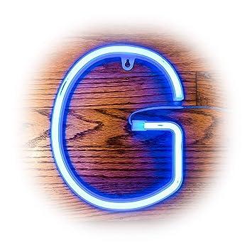 Amazon.com: ZOLED letrero de neón azul con ledes, luz de ...