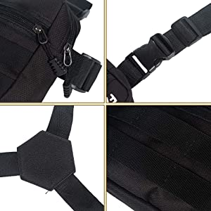 Armiya Chest Bag,Universal Chest Vest Rig Utility Molle Pack Holster for Men Women(Black 2) (Color: black 2)