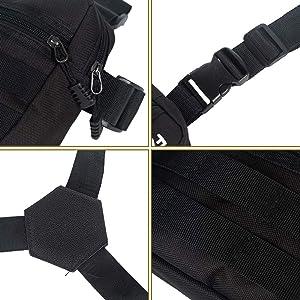 Armiya Chest Bag,Universal Chest Vest Rig Utility Molle Pack Holster for Men Women(Black 2) (Color: black 2)