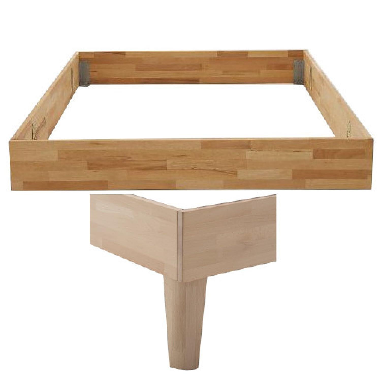 DICO Massivholz-Bettrahmen Keilgezinkt ohne Kopfteil Komforthöhe 325.26 Größe 100 x 200 cm