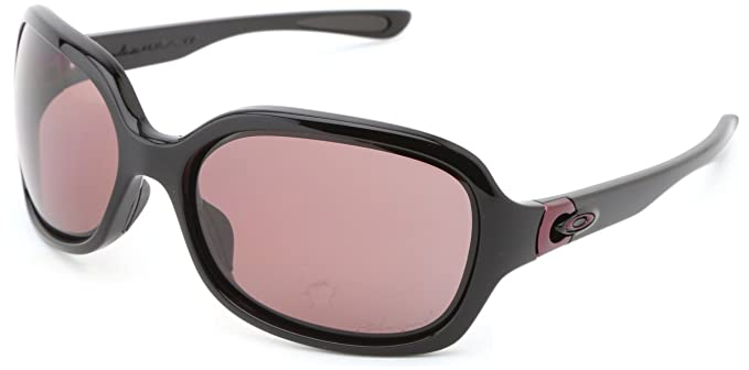 oakley sunglasses amazon  oakley womens pulse oo9198 06 polarized sport sunglasses,polished black,55 mm