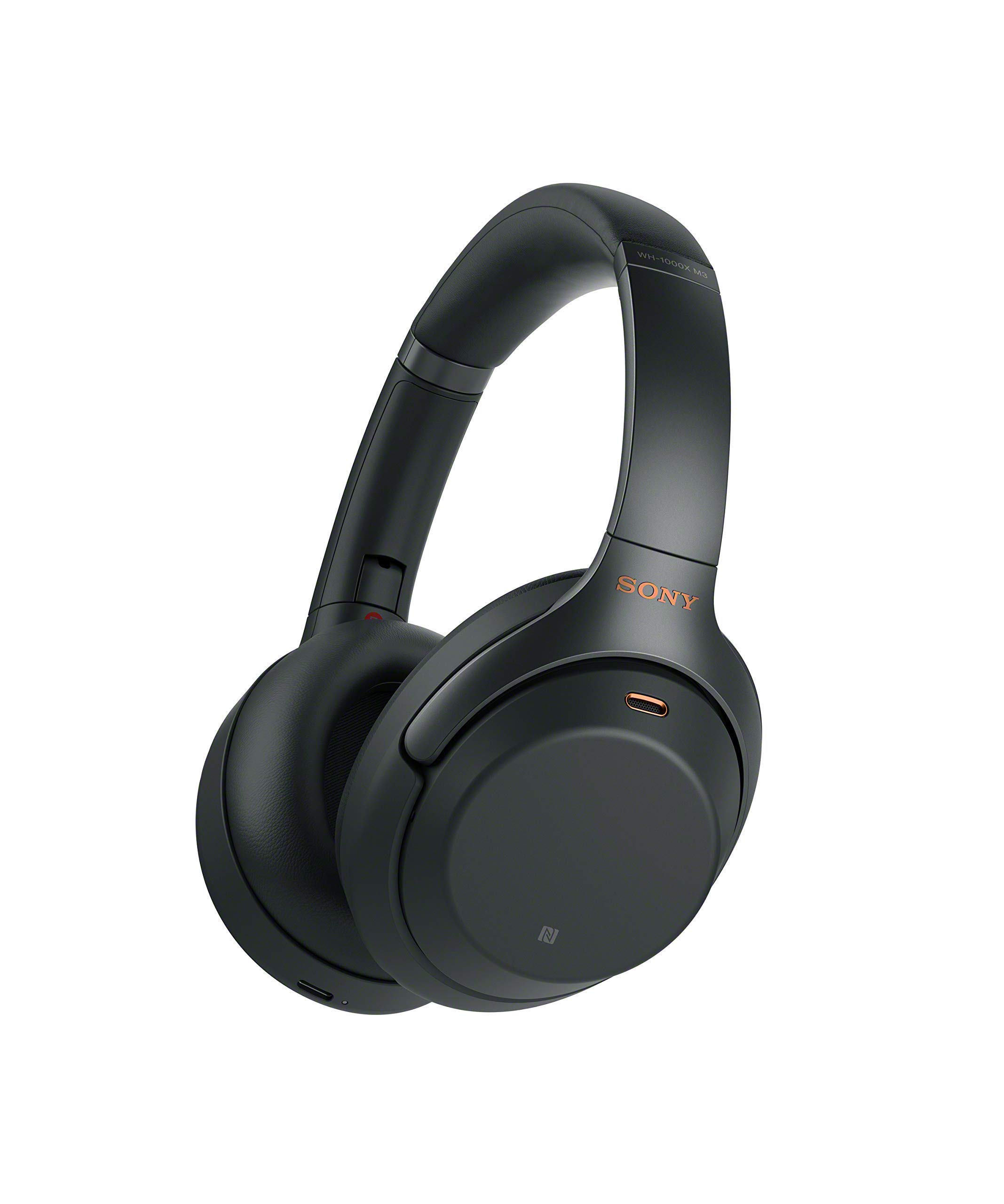 Sony WH1000XM3 Bluetooth Wireless Noise Canceling Headphones, Black WH-1000XM3/B (Renewed) by Sony