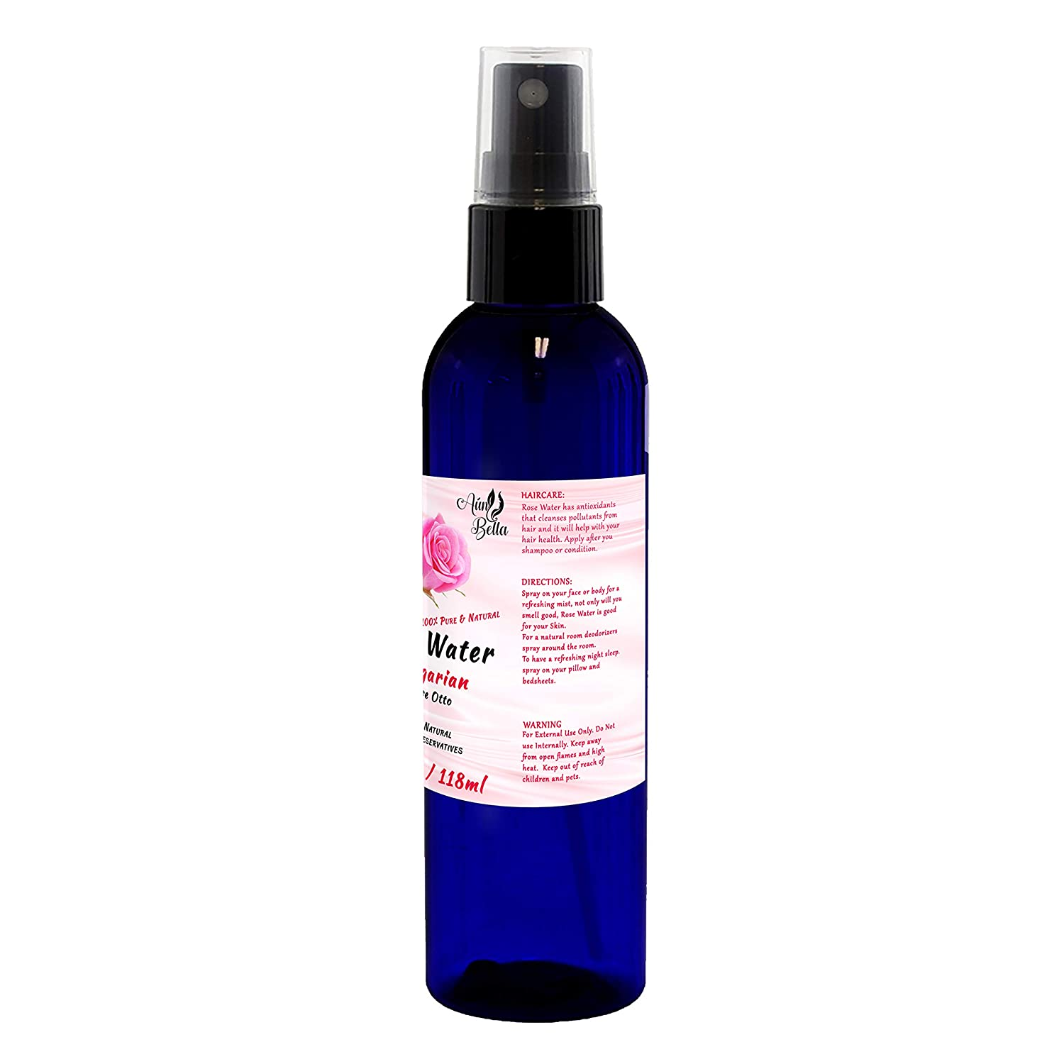 Amazon Com Natural Rose Water Face Toner 100 Pure Bulgarian Rosewater Hydrosol Natural Skin Toner Reduces Redness And Helps With Acne Prone Skin Facial Fine Mist Spray 4 Oz Beauty
