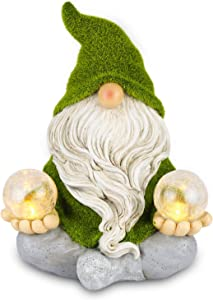 Solar Light Garden Gnome Zen Meditating - Waterproof Outdoor Decorations - Solar Powered Lights - Auto On/Off for Patio Deck Yard Garden